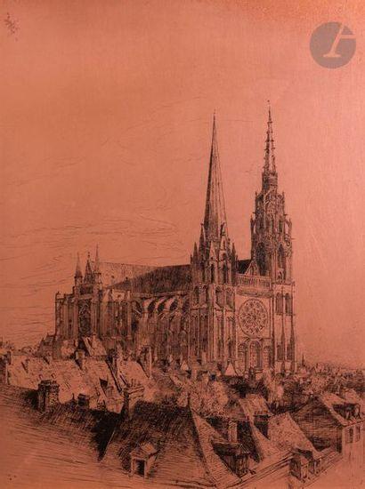 Charles Jouas (1866-1942) La Cathédrale de...
