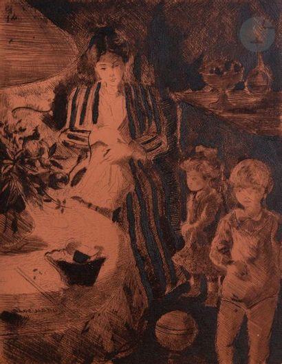 Emilio Grau-Sala (1911-1975) Mère et enfants...