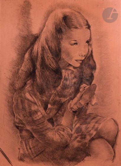 Mariette Lydis (1887-1970) Fillette tenant...