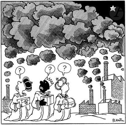 Jean Plantureux dit PLANTU (né en 1951) Environnement, les Rois mages, 28 décembre...