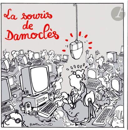 Jean Plantureux dit PLANTU (né en 1951) Société - La Souris de Damoclès, 13 juin...