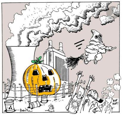 Jean Plantureux dit PLANTU (né en 1951) Environnement - Pollution nucléaire, 10...
