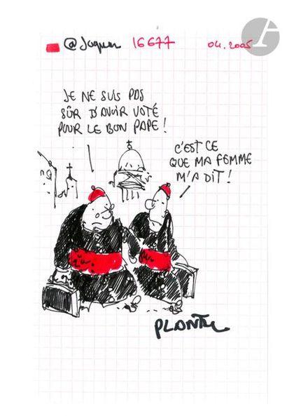Jean Plantureux dit PLANTU (né en 1951) Religion - C'est ce que ma femme m'a dit,...