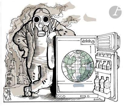 Jean Plantureux dit PLANTU (né en 1951) Environnement - Pollution, 1er octobre 2006...