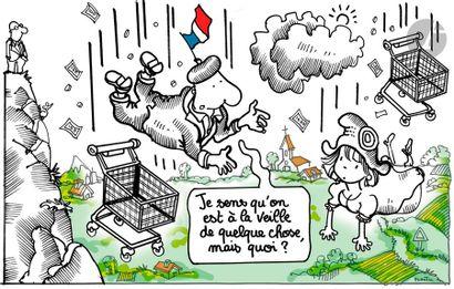 Jean Plantureux dit PLANTU (né en 1951) Politique - Veille sociale, 15 septembre...
