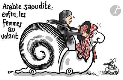 Jean Plantureux dit PLANTU (né en 1951) Religion - Arabie Saoudite : Enfin les femmes...