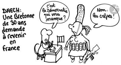 Jean Plantureux dit PLANTU (né en 1951) Daech...