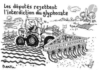 Jean Plantureux dit PLANTU (né en 1951) Environnement...