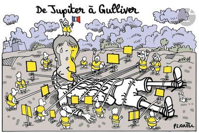 Jean Plantureux dit PLANTU (né en 1951) Politique - De Jupiter à Gulliver, 30 novembre...