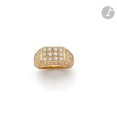Bague de petit doigt en or 18K (750), le...