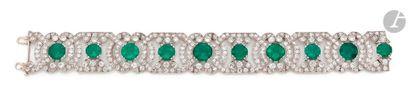 JANESICH Bracelet en platine, articulé de...