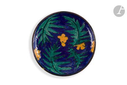 ANDRÉ METTHEY (1871-1920) Composition fauve Plat creux et circulaire reposant sur...