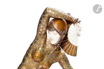 DEMETER H. CHIPARUS (1886-1947) Toyama dite communément Danseuse aux Éventails ou...