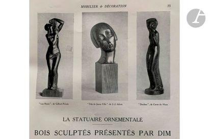GILBERT PRIVAT (1892-1969) SCULPTEUR & S.A.S PARIS ÉDITEUR Roses, version avec drapé,...