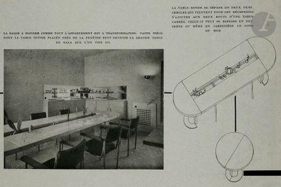 FÉLIX AUBLET (1903-1978) Pièce unique réalisée en 1932 pour l'aménagement de l'appartement...