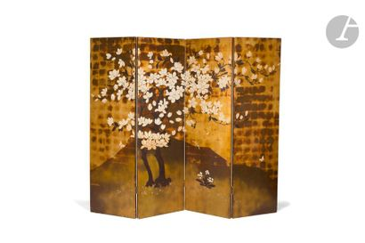 PIERRE BOBOT (1902-1974) Magnolia en fleurs...