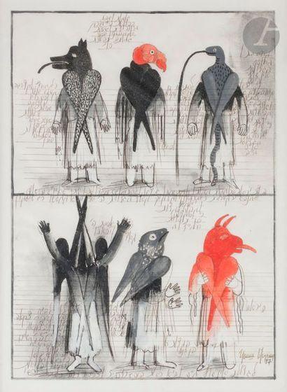Grisha BRUSKIN [russe] (né en 1945) Composition,...