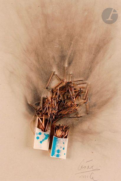 César Baldaccini dit CÉSAR (1921-1998) Combustion...