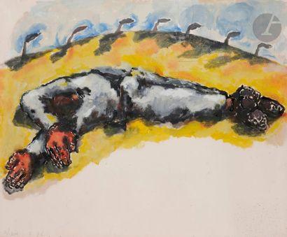 Jean-Charles BLAIS (né en 1956) Homme endormi...