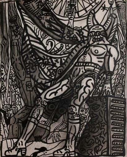 Robert COMBAS (né en 1957) Composition, 1997...