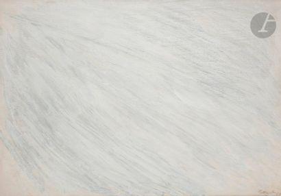 Claude BELLEGARDE (né en 1927) Effacement - Achrome Temps F, 1957 Technique mixte...