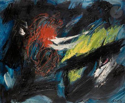 Gérard SCHNEIDER (1896-1986) Opus 98 C, 1958...
