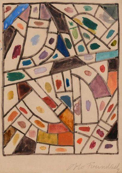 Otto FREUNDLICH [allemand] (1878-1943) Composition...