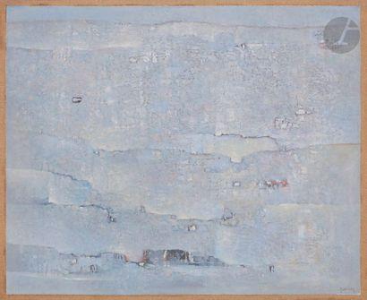 Abdelkader GUERMAZ [algérien] (1919-1996) Paysage bleu, 1978 Huile sur toile. Signée...
