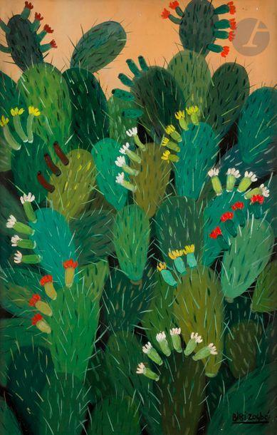 Bibi ZOGBE [libanaise] (1890-1973) Cactus...