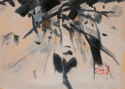 T'ang HAYWEN [chinois] (1927-1991) Composition,...