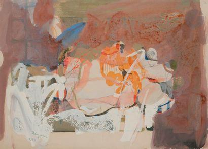 Paul REBEYROLLE (1926-2005) Nu, 1964 Gouache....