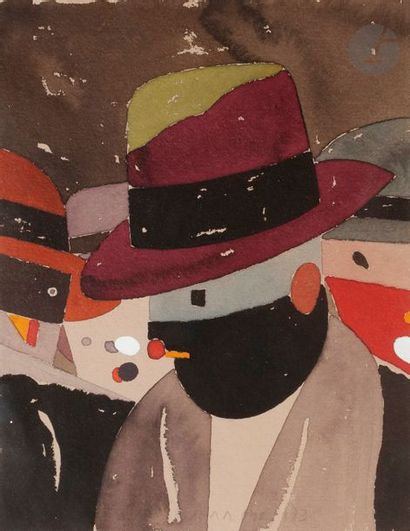 Eduardo ARROYO [espagnol] (né en 1937) Brelan,...