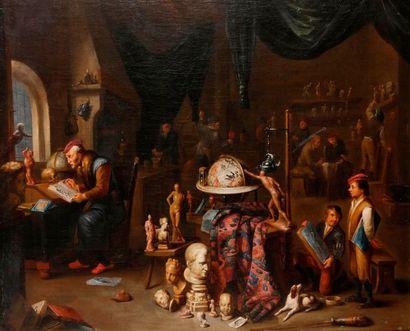 Attribué à Balthasar Van den BOSSCHE (Anvers, 1681-1715) Dans l'atelier de sculpture...