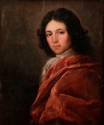 École ESPAGNOLE vers 1740 Portrait d'homme...