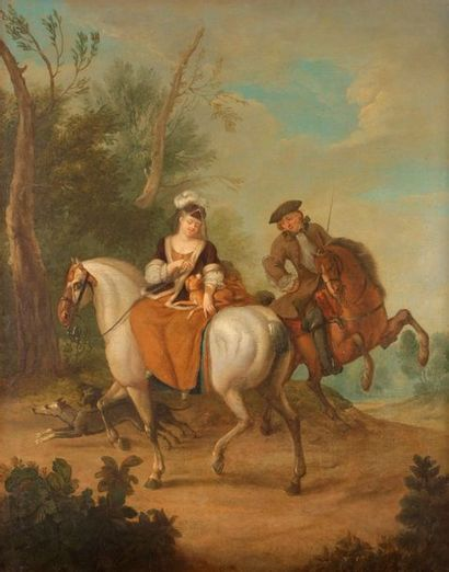 École ALLEMANDE du XVIIIe siècle, entourage...