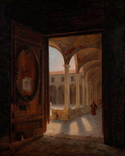 Attribué à Giuseppe ABBATI (1836-1868) Vue...