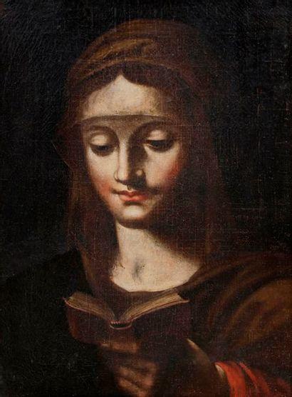 École ITALIENNE du XVIIe siècle Vierge en...