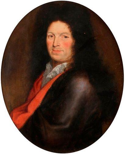École FRANÇAISE vers 1680 Portrait d'homme...