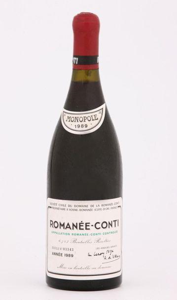Domaine de la ROMANEE -CONTI  Exceptionnel assortiment de 13 bouteilles Année 1989...