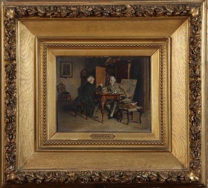 Johann HAMZA (1850-1927)  Deux personnages...