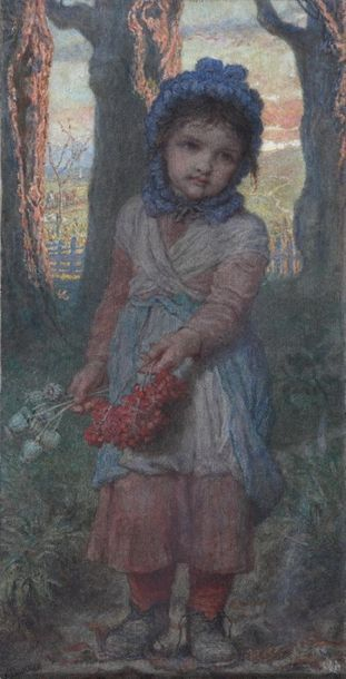 Karl BAUERLE (1831-1912)  Late Autumn evening...