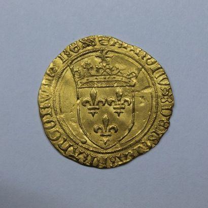 CHARLES VIII (1483-1498). Ecu d'or au soleil....