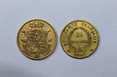 NAPOLEON I (1804-1814). 20 francs. Paris....