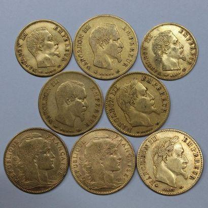 NAPOLEON III (1852-1871). 5 francs tête nue...