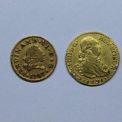 ESPAGNE. FERDINAND VI (1746-1759). 1/2 escudo....