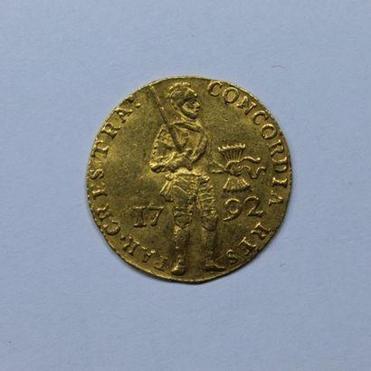 PAYS-BAS. Utrecht. Ducat au chevalier. 1792....