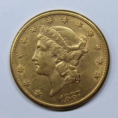 ETATS-UNIS. 20 dollars. San Francisco. 1887....