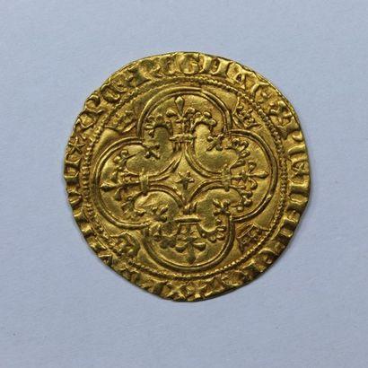 CHARLES VI (1380-1422). Ecu d'or à la couronne....