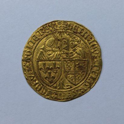 HENRI VI (1422-1453). Salut d'or. Rouen....
