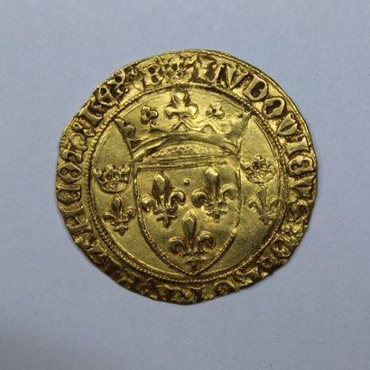 LOUIS XI (1461-1483). Ecu d'or à la couronne....